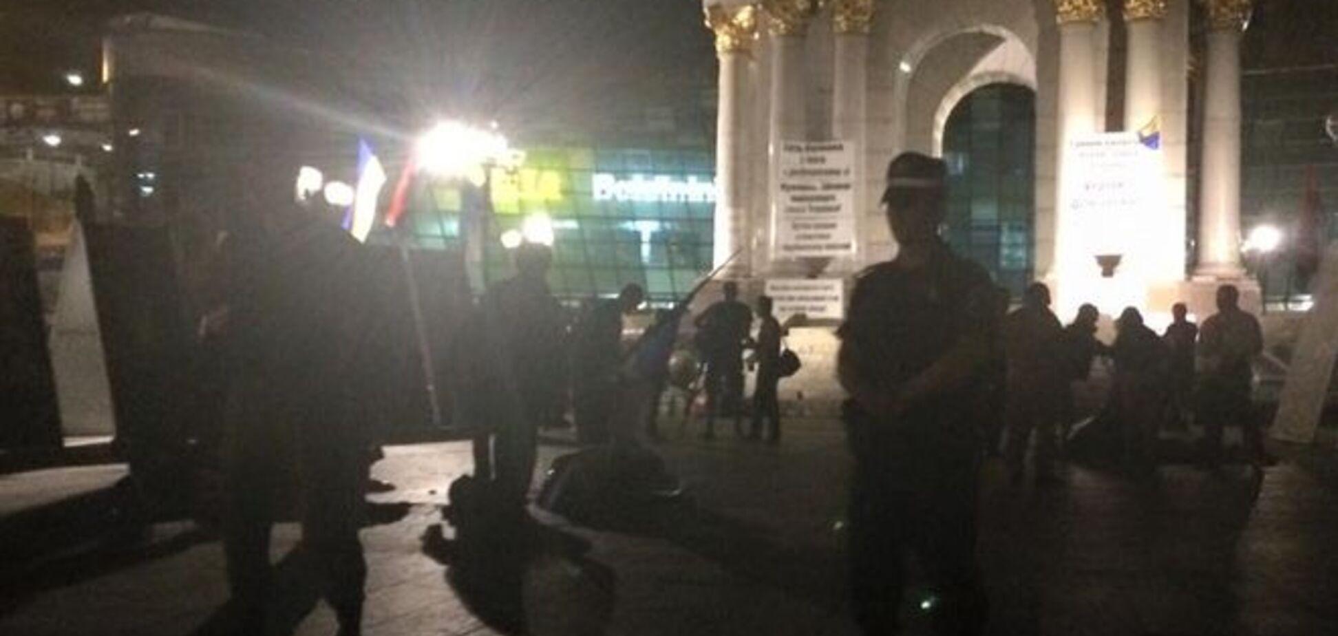 'Майдан' 3.0. Палатки снесли, организатора задержали: фото из соцсети