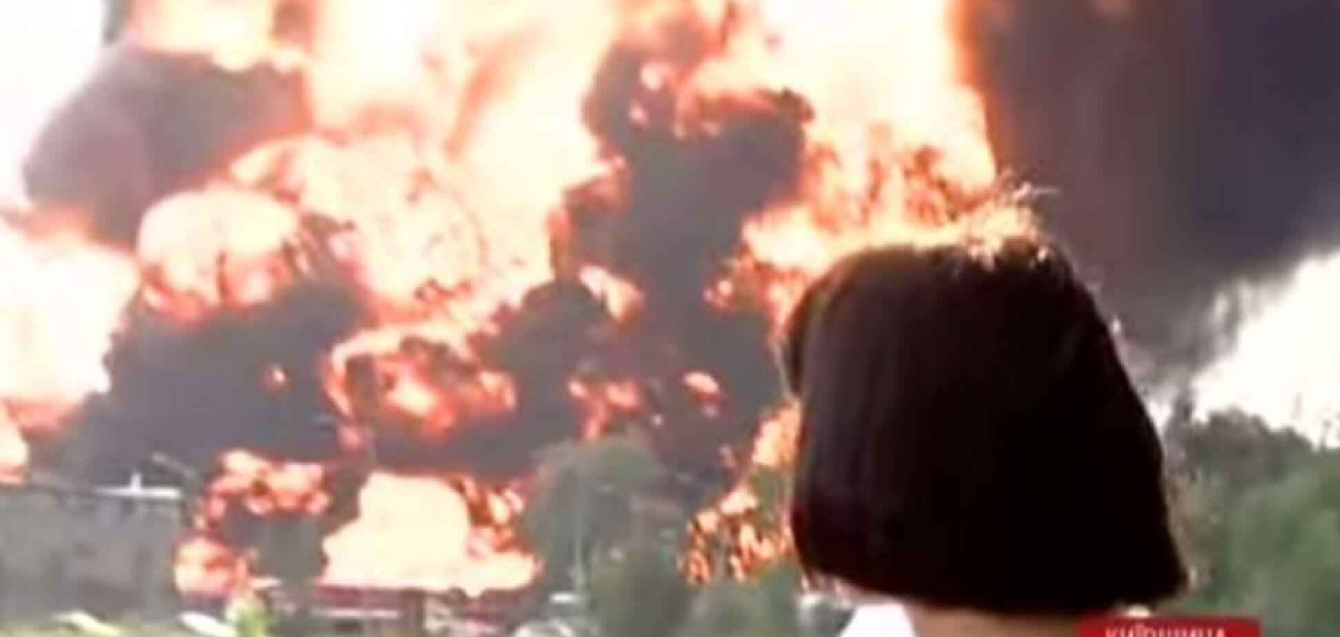 Очередной взрыв на нефтебазе произошел в прямом эфире: видеофакт