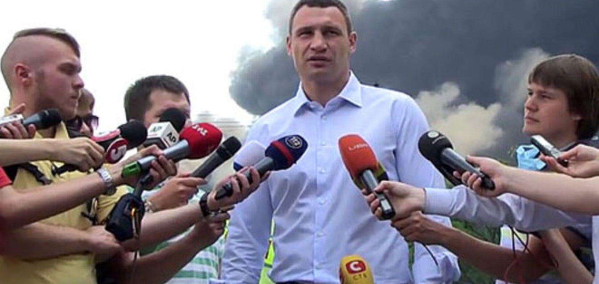 Кличко рассказал о загрязненном из-за пожара воздухе в Киеве
