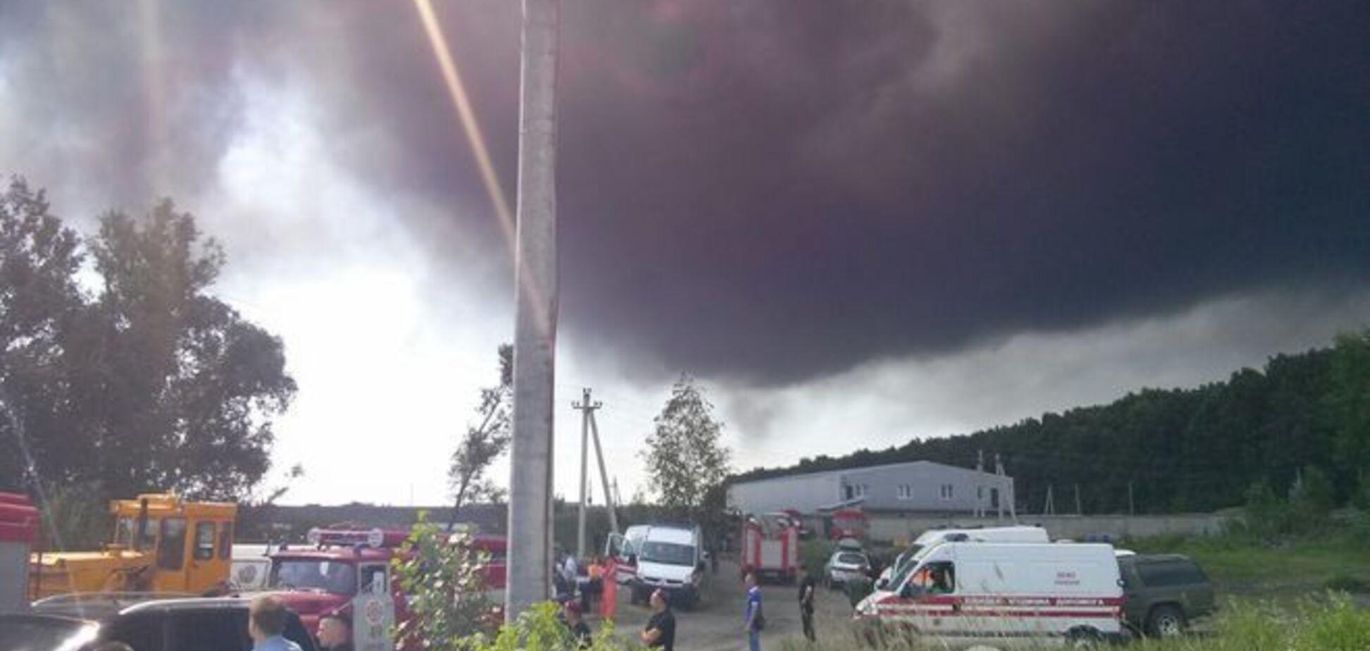 Милиция озвучила число пострадавших в результате пожара на нефтебазе в Василькове