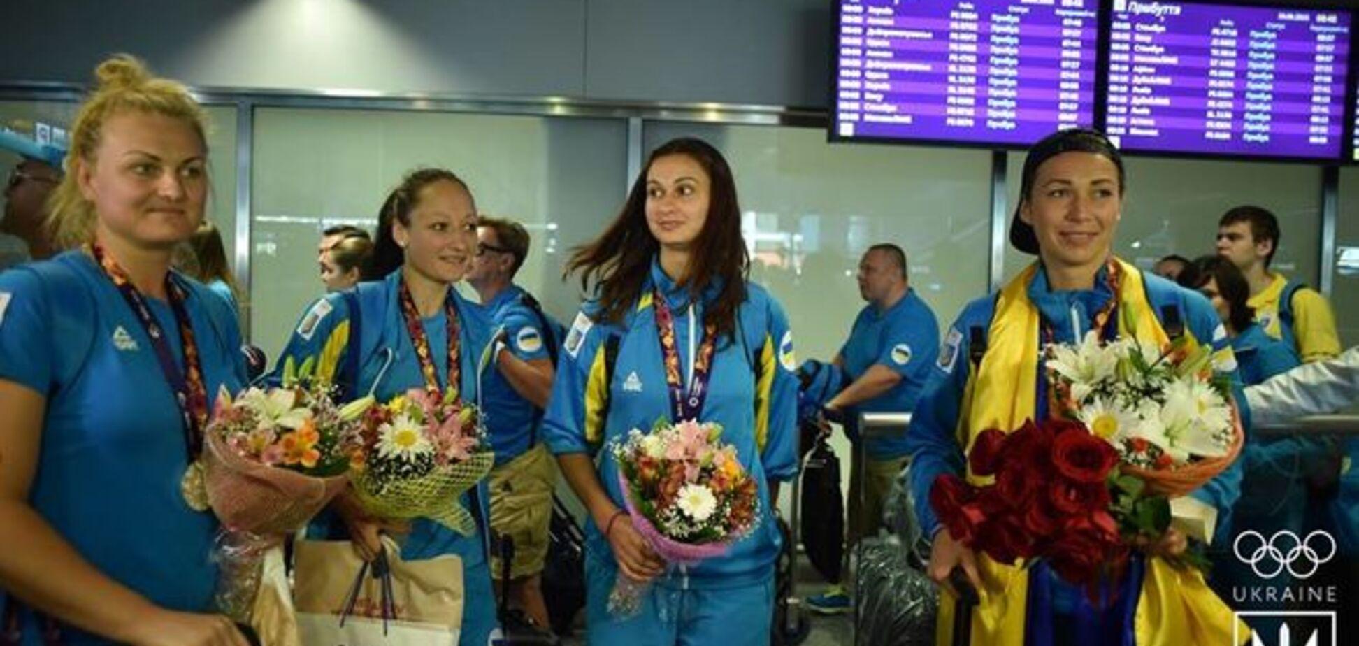 Як збірну України зустрічали з Європейських ігор: ексклюзивне відео