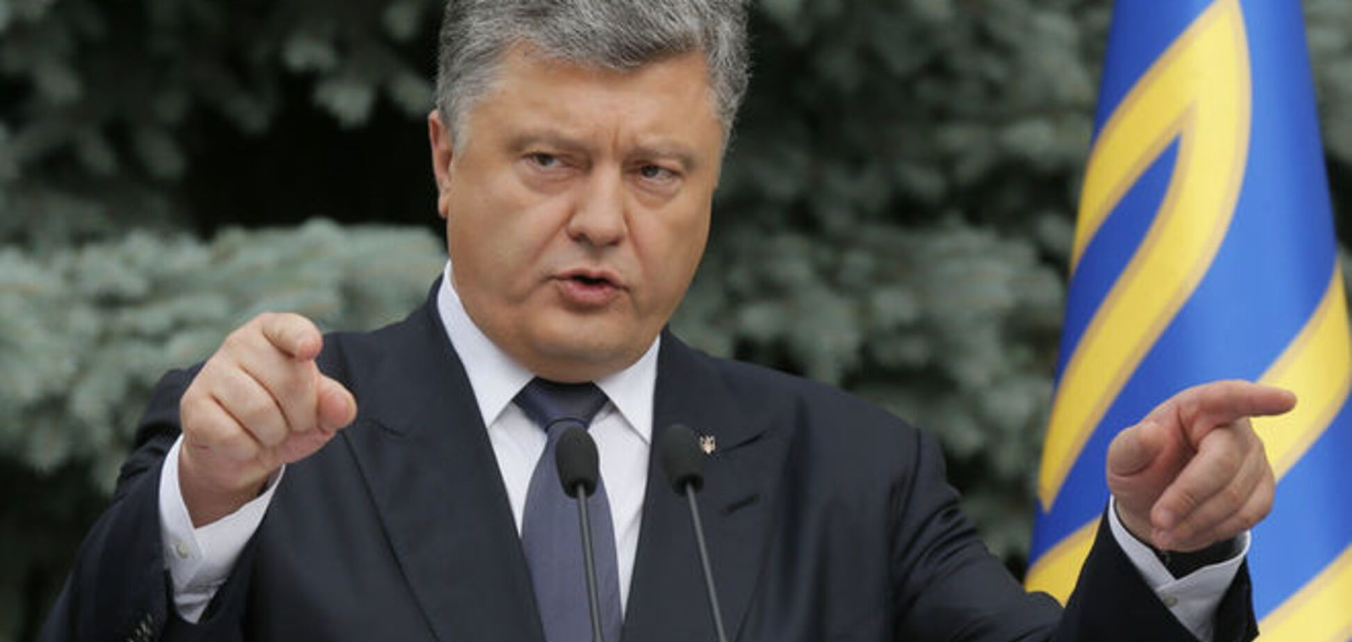 Порошенко назвал террористами стрелков из Мукачево