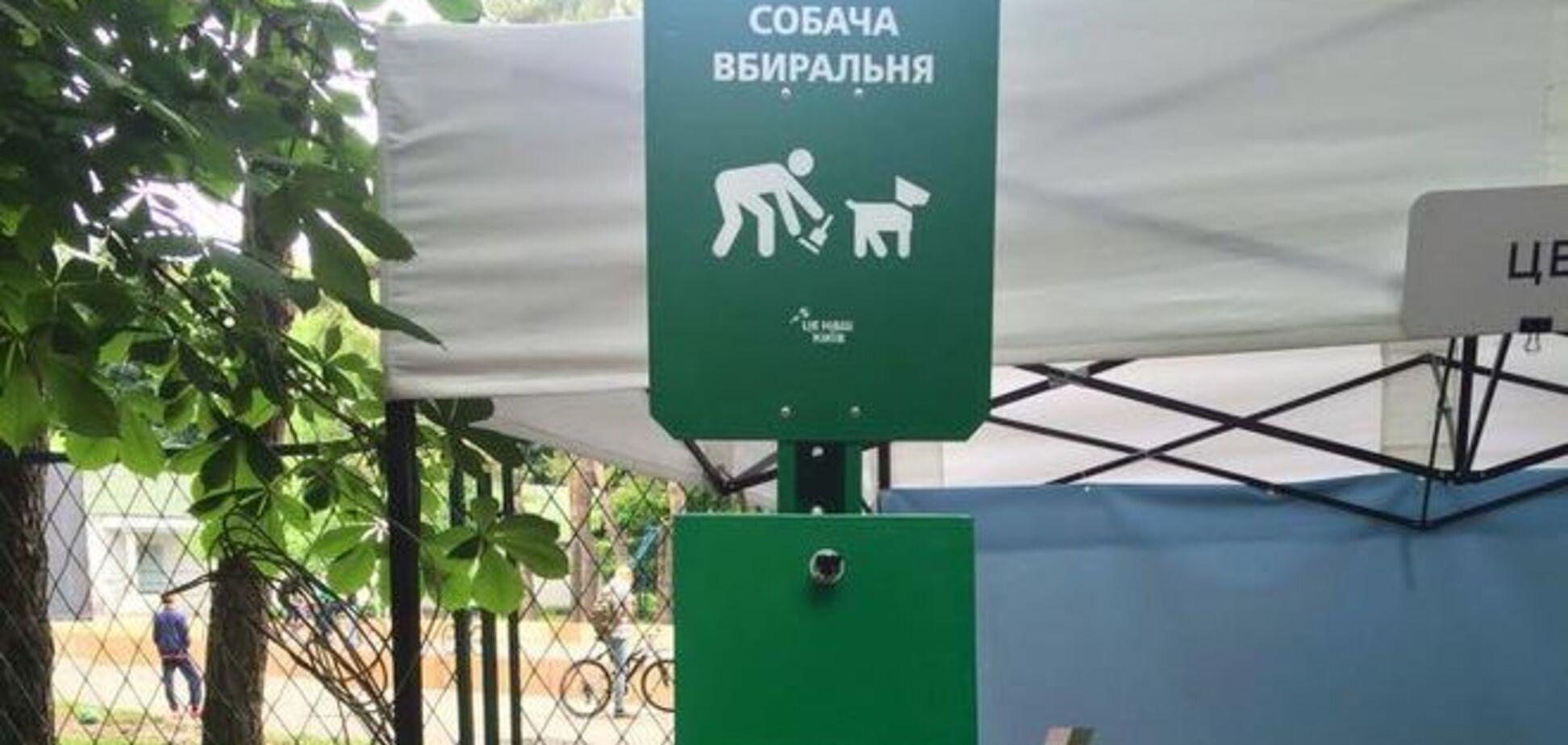 У київському парку з'явилися 'собачі туалети': фотофакт