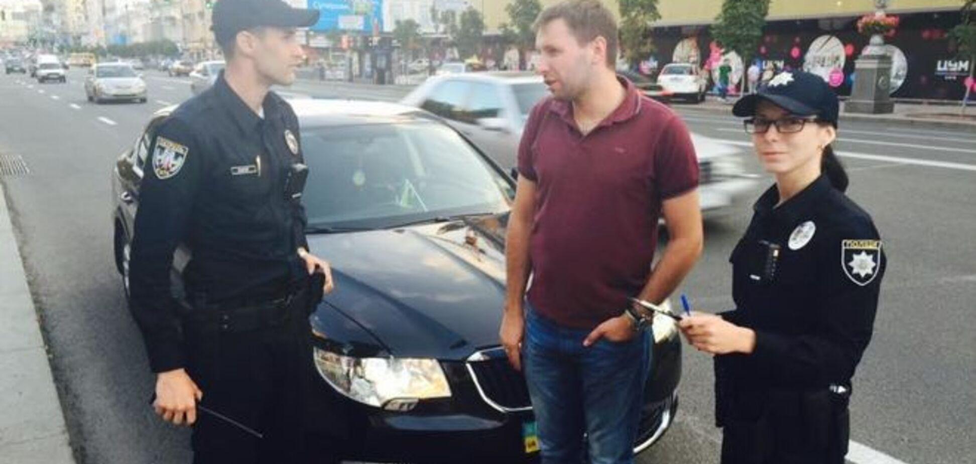 Новая полиция 'тормознула' нардепа Парасюка: фотофакт