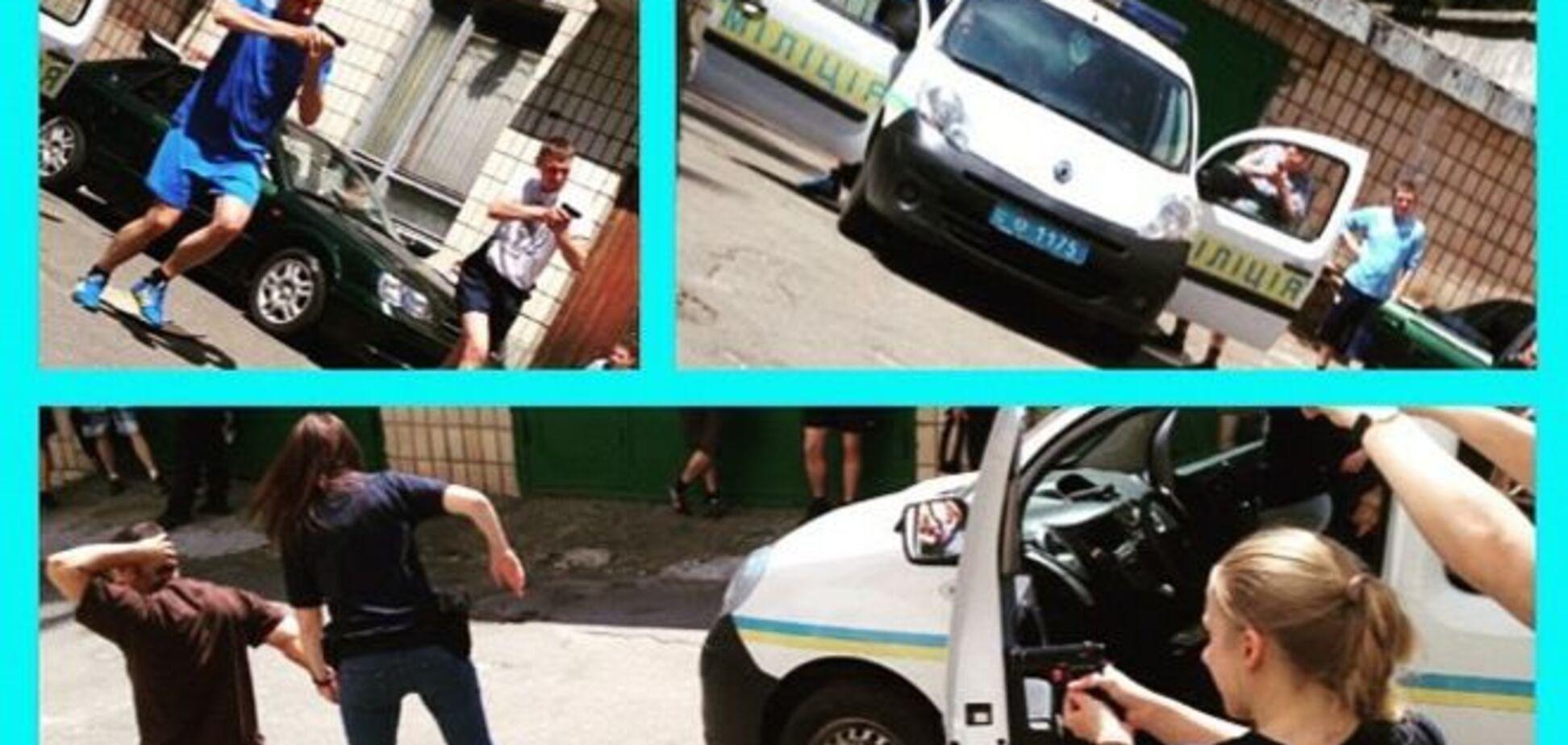 Почти Голливуд: как проходили учения киевских копов