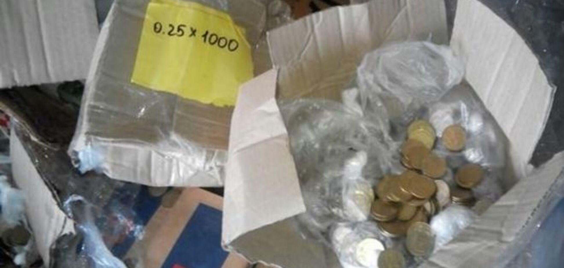 Із 'ДНР' намагалися вивезти мільйон гривень мілкими грішми: фотофакт
