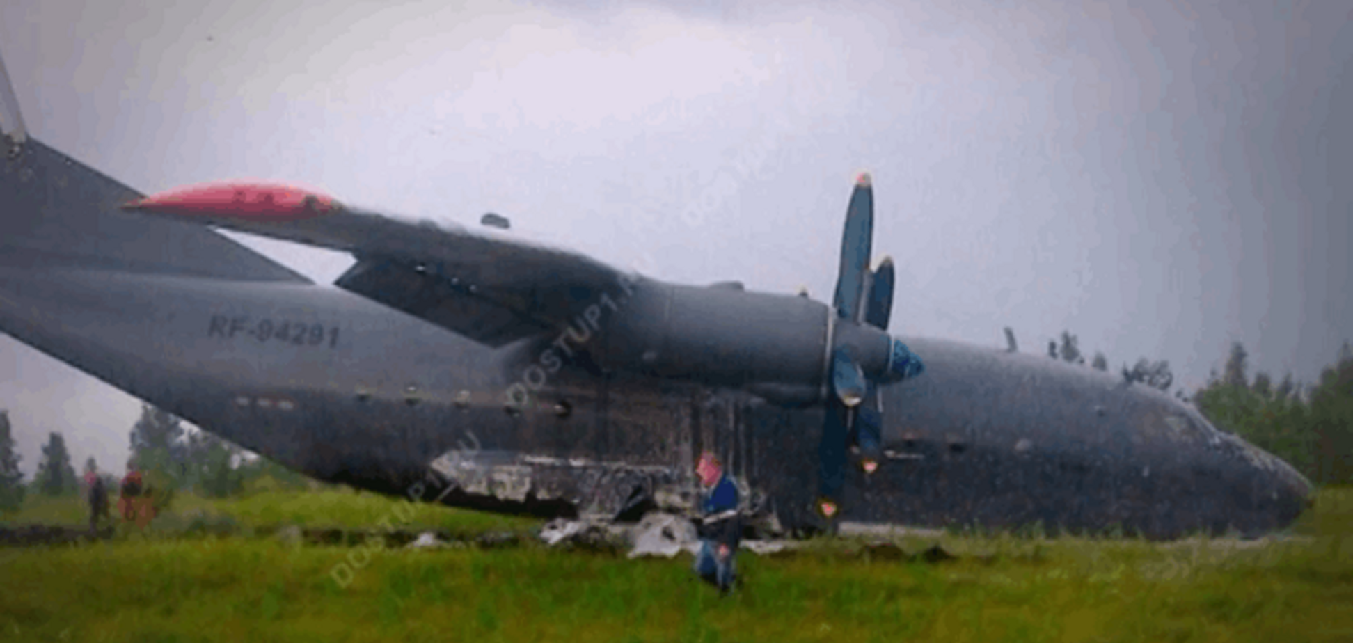 У Росії розбився черговий військовий літак: опубліковано відео