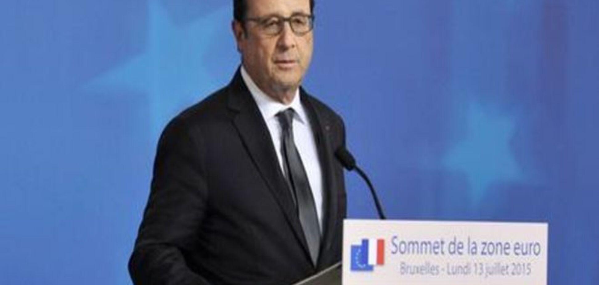 Олланд підтримує ідею створення уряду Єврозони
