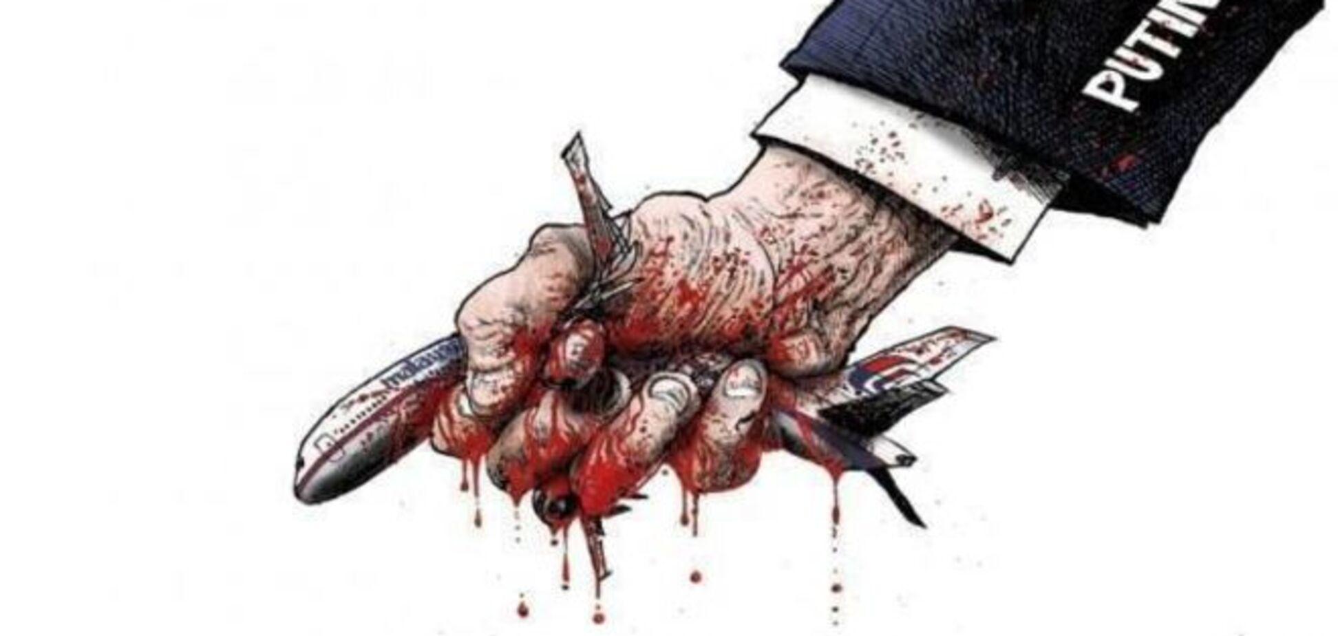 'Putin kills': карикатури світових ЗМІ на винуватця аварії Boeing-777