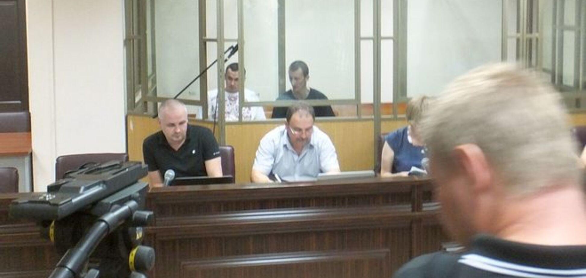 Дело Олега Сенцова. Первые кадры из зала суда