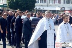 У Луцьку прощаються з Єремеєвим: приїхали колеги та друзі