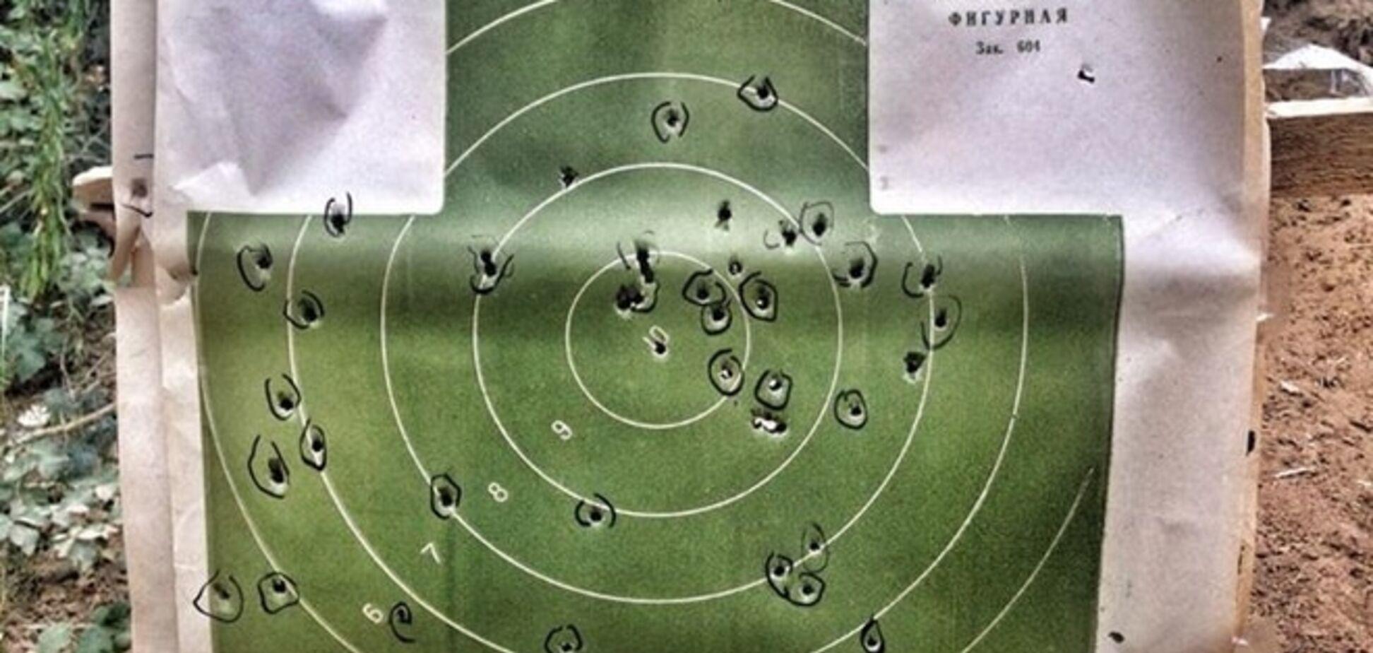 Найем похвастался стрельбой на полигоне: фото мишени с результатами
