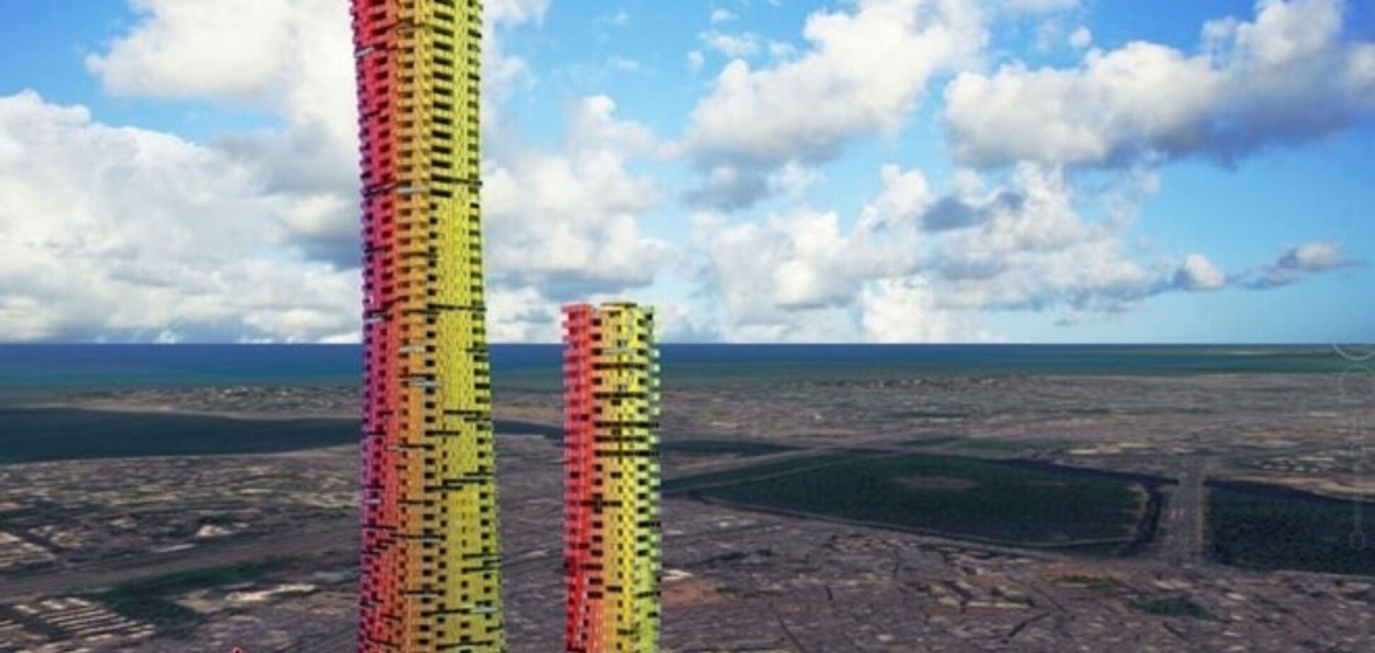 Креативу нет предела: в Индии 'разработали' небоскребы из контейнеров