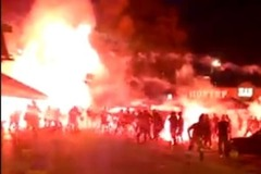 Появилось новое видео ночной драки украинских и польских фанатов в Киеве