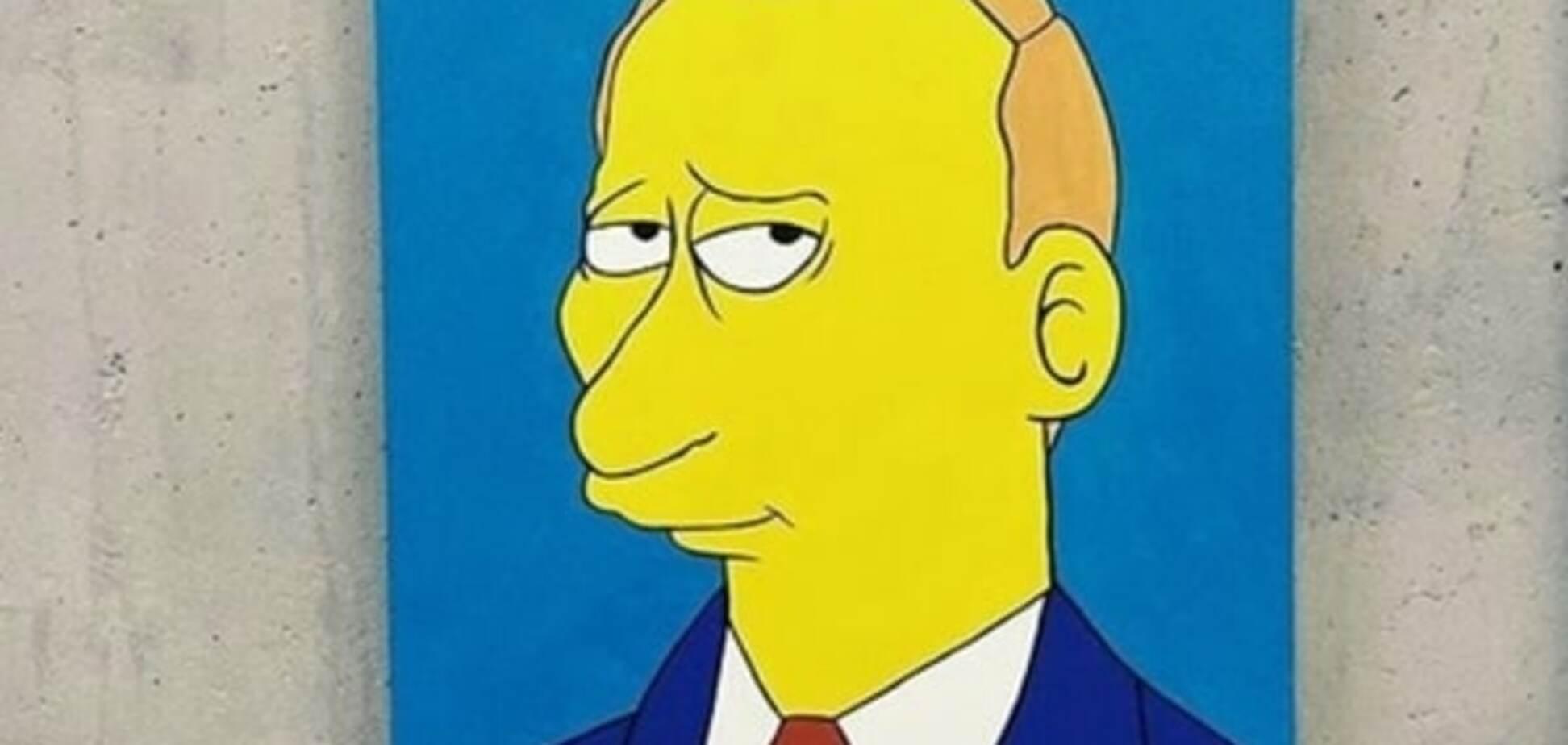 С московской выставки украли портрет Путина в стиле 'Симпсонов'