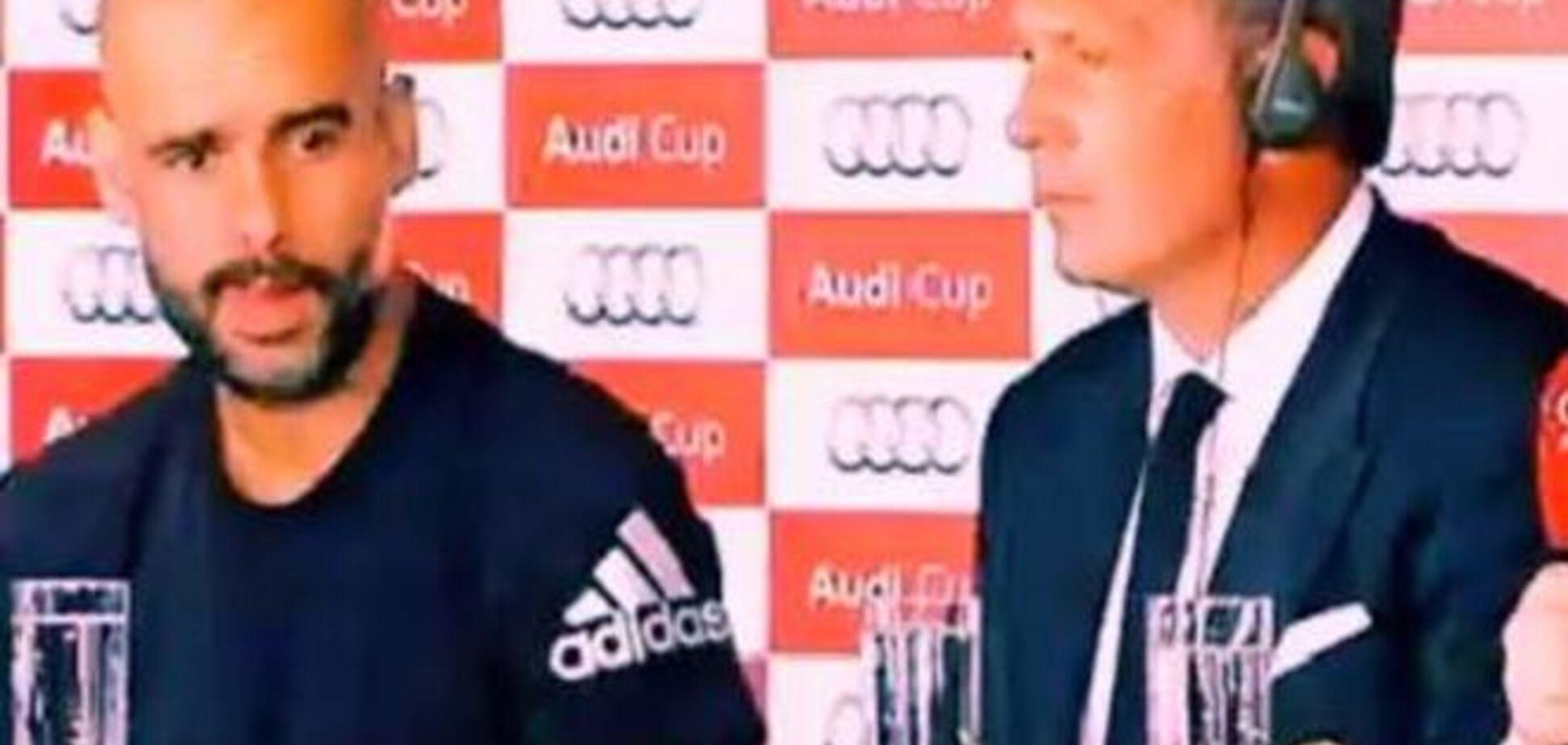Тренер 'Баварии' отметился 'наркоманской' реакцией на пресс-конференцией
