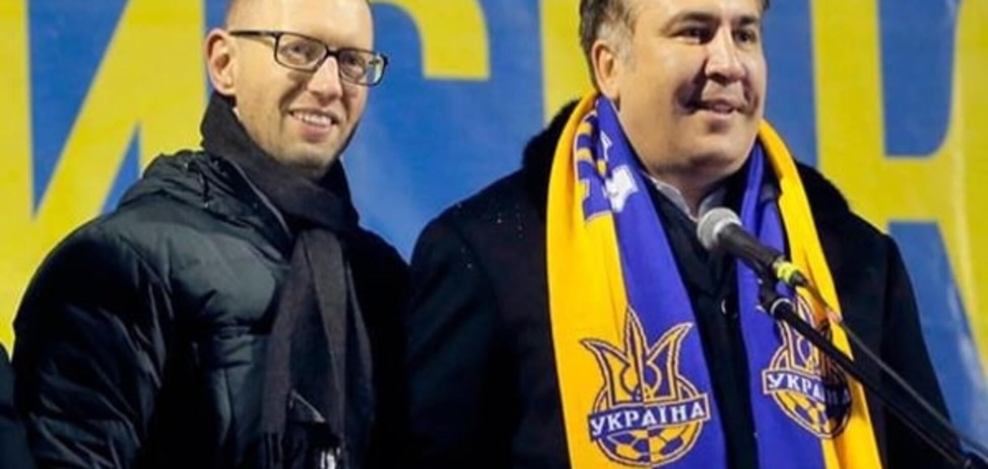 'Поп-звезды' украинской политики: хитрости самопиара Яценюка и Саакашвили