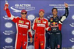 Ferrari сенсационно выиграли квалификацию на Гран-при Сингапура