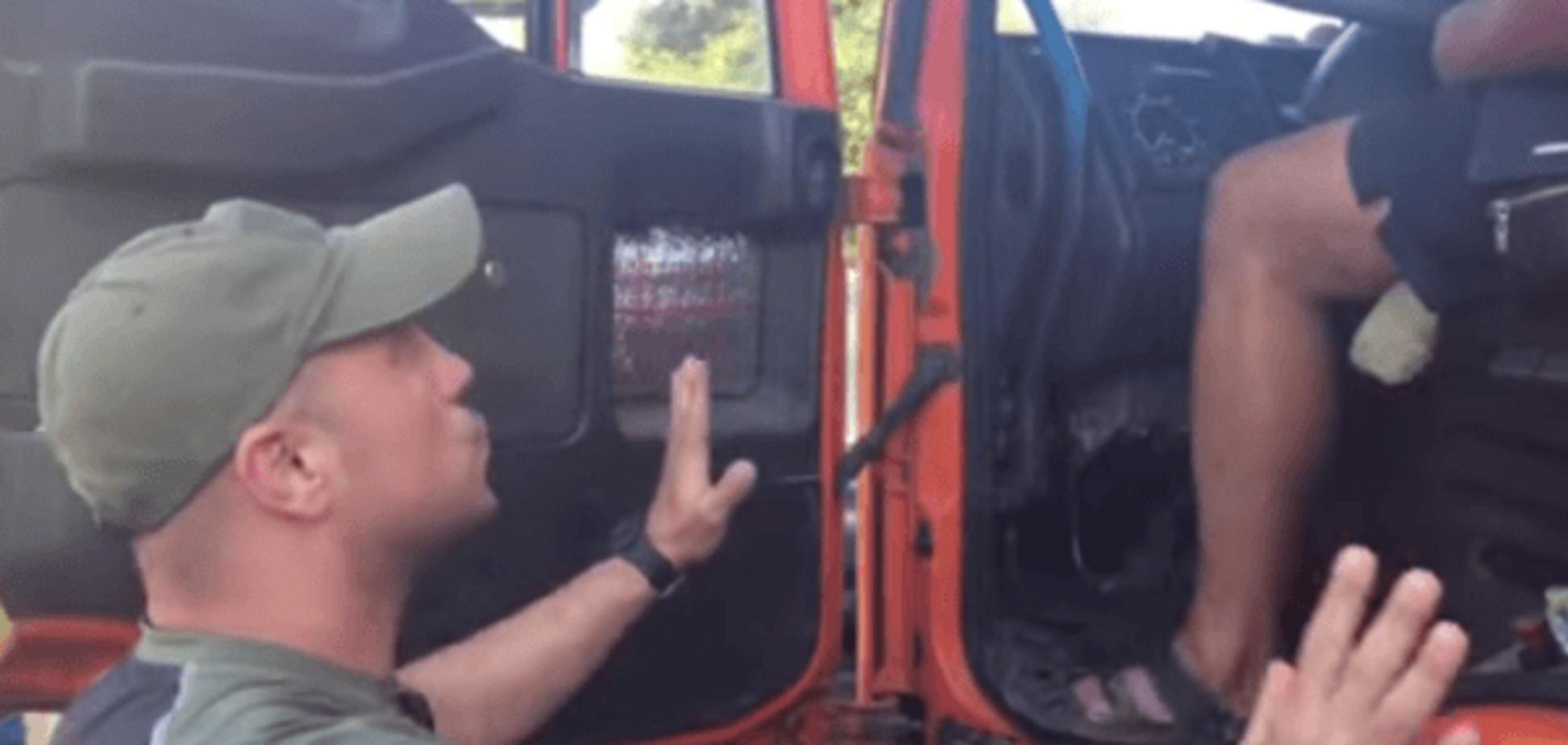 В Чонгаре возмущенных дальнобойщиков поставили на место: видеофакт