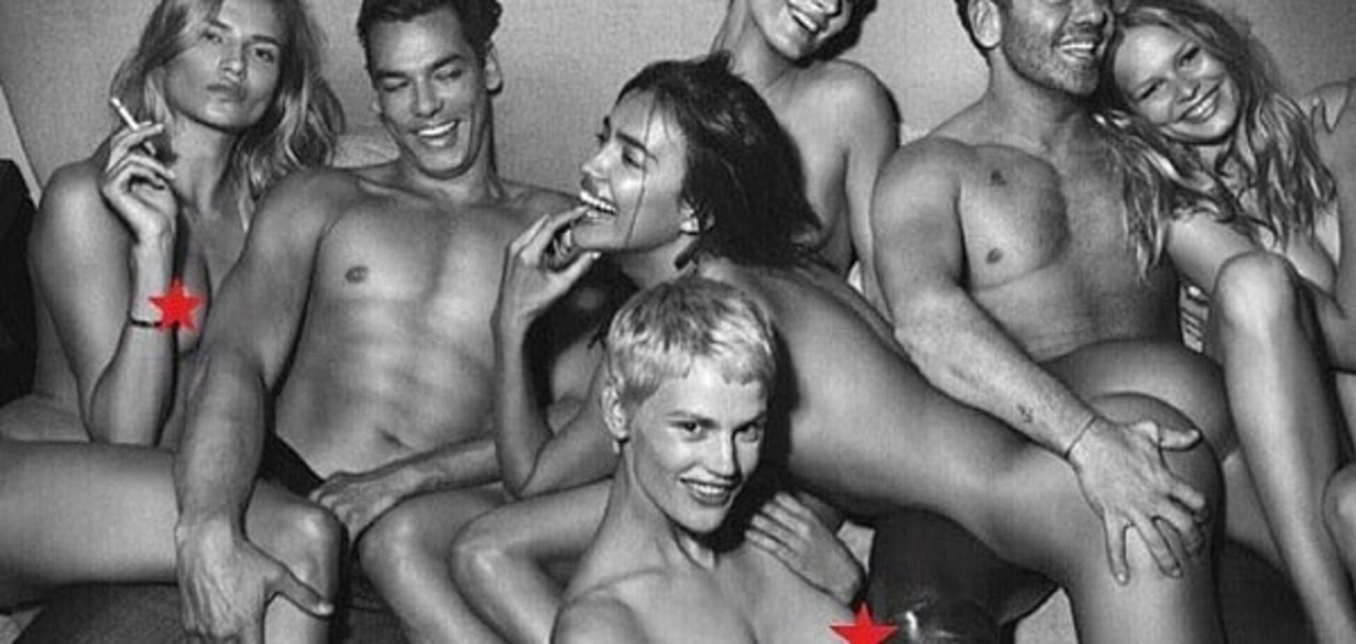 Ирина Шейк полностью разделась в компании мужчин: откровенная фотосессия