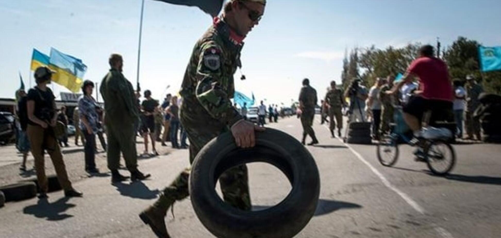 'Правый сектор' заявляет, что продукты в Крым теперь везут бусами