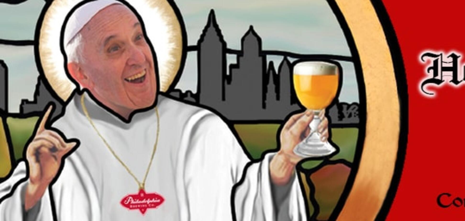 В США выпустили 'спасительное' пиво с Папой Римским на обложке