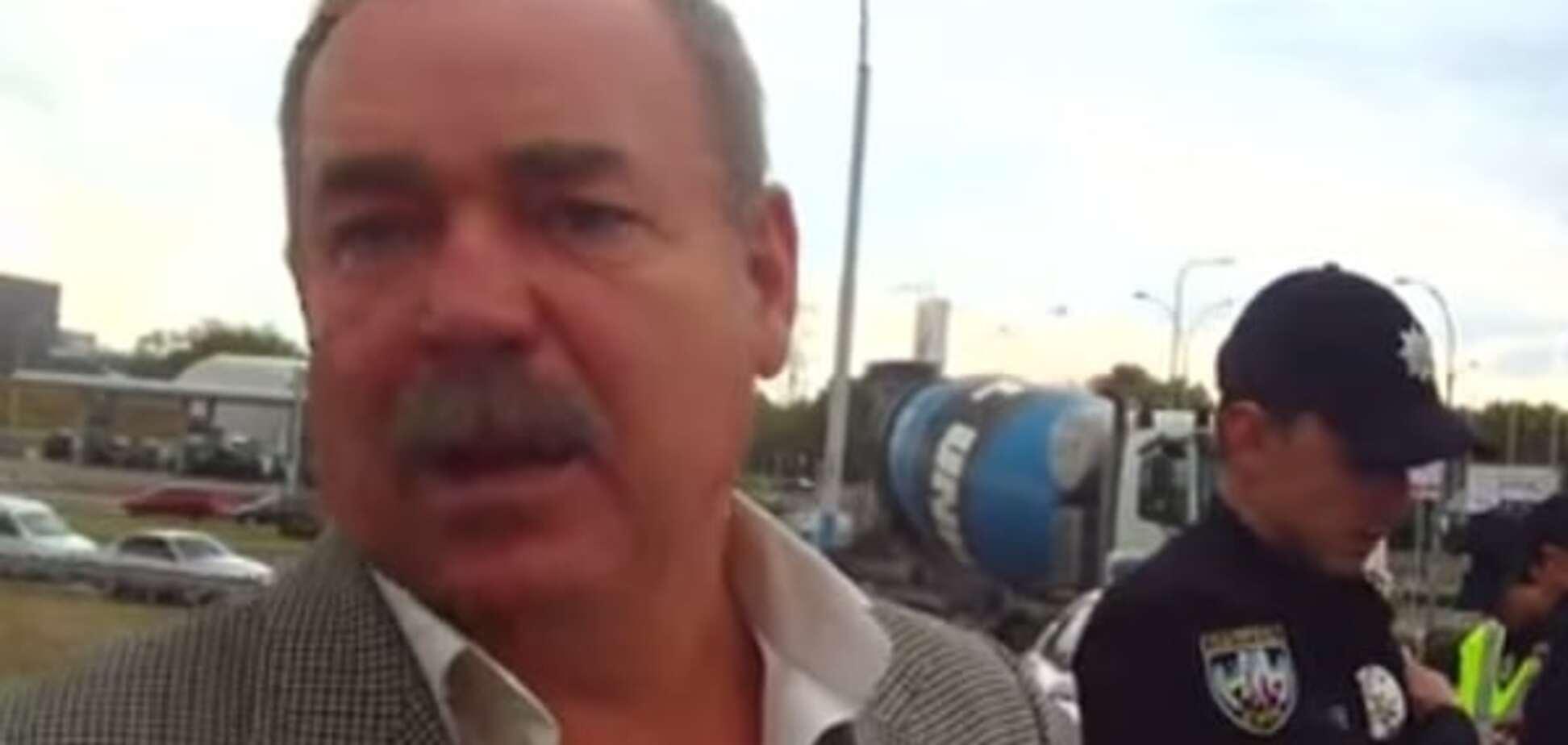 'Пошел н*х, б*дло' В Киеве пьяный 'полковник' устроил скандал с полицией