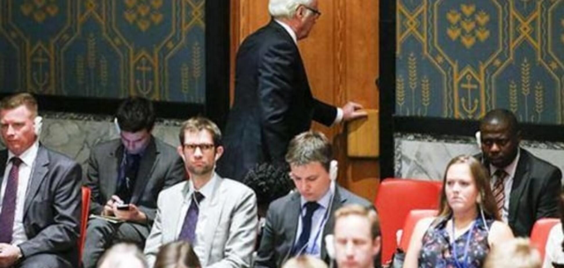 'Сбежали в буфет'. Соцсети высмеяли 'демарш' россиян на Генассамблее ООН