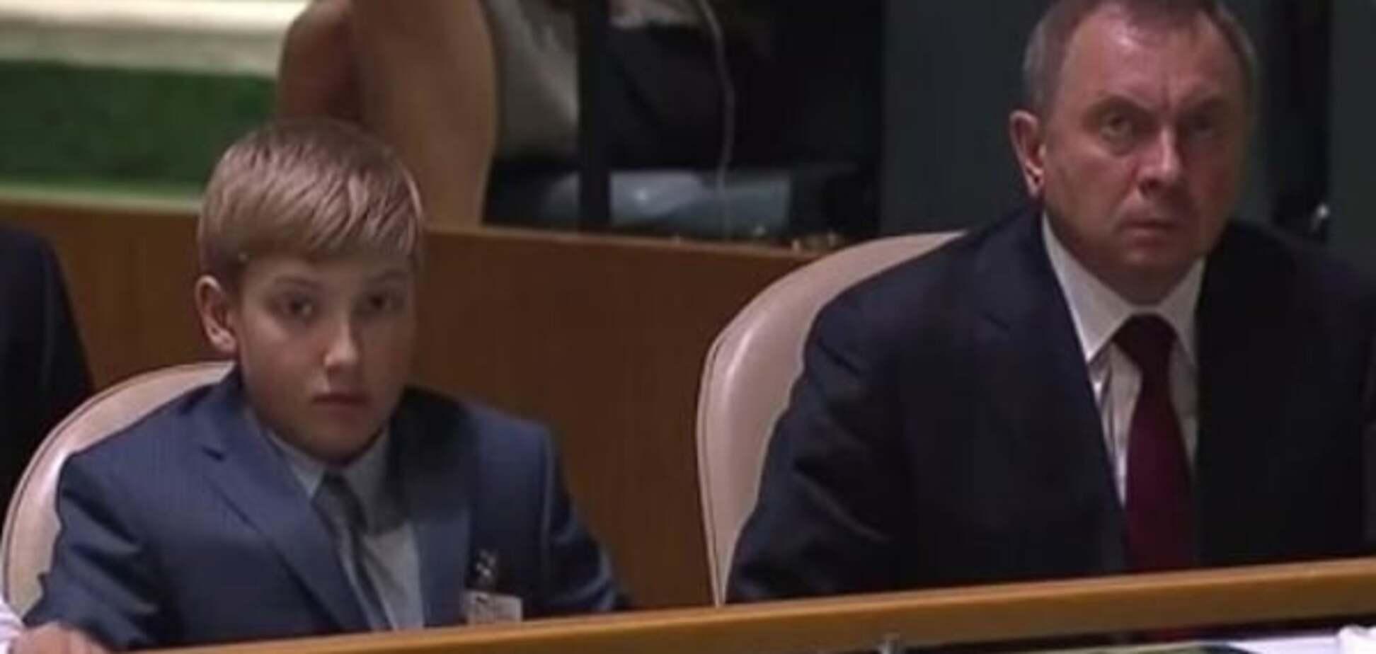 Юный дипломат? Лукашенко привел на Генассамблею ООН своего малолетнего сына: фото- и видеофакт