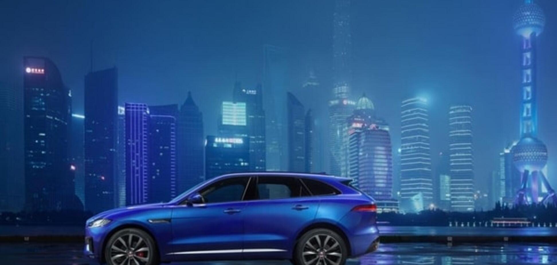 Jaguar показал дебютное фото и видео своего первого внедорожника