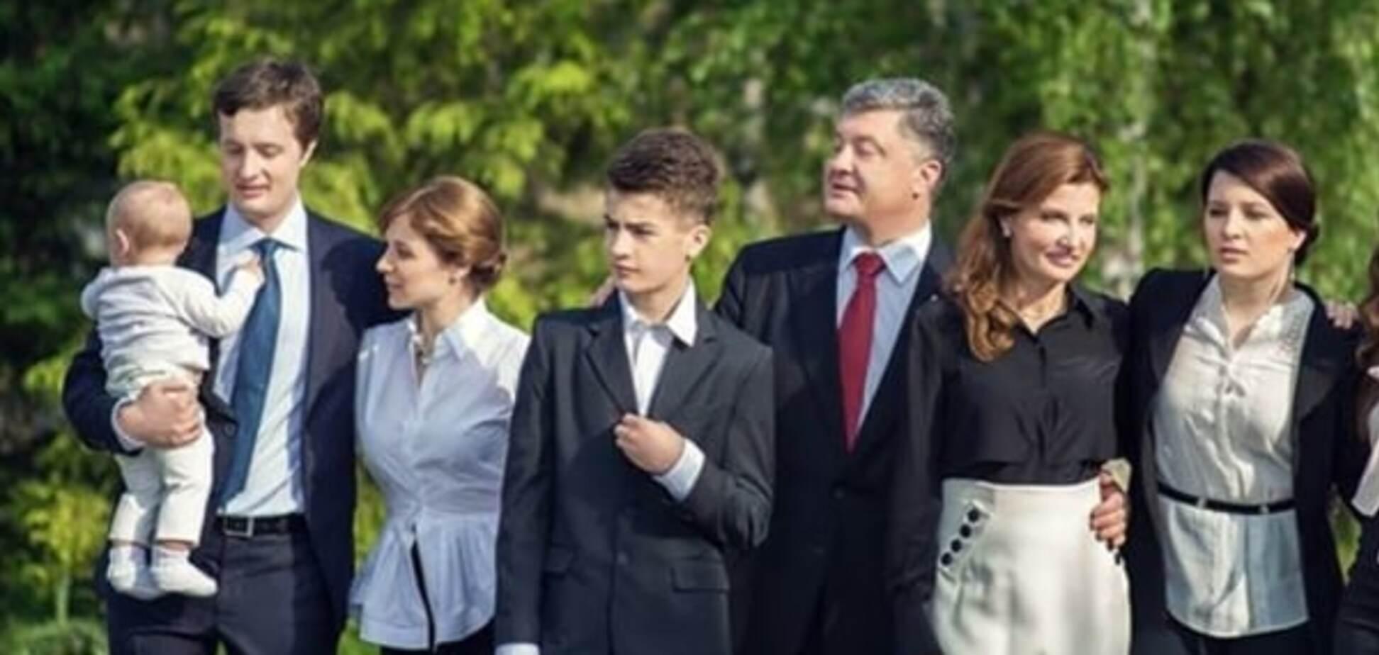 Порошенко впервые показал фото своего внука