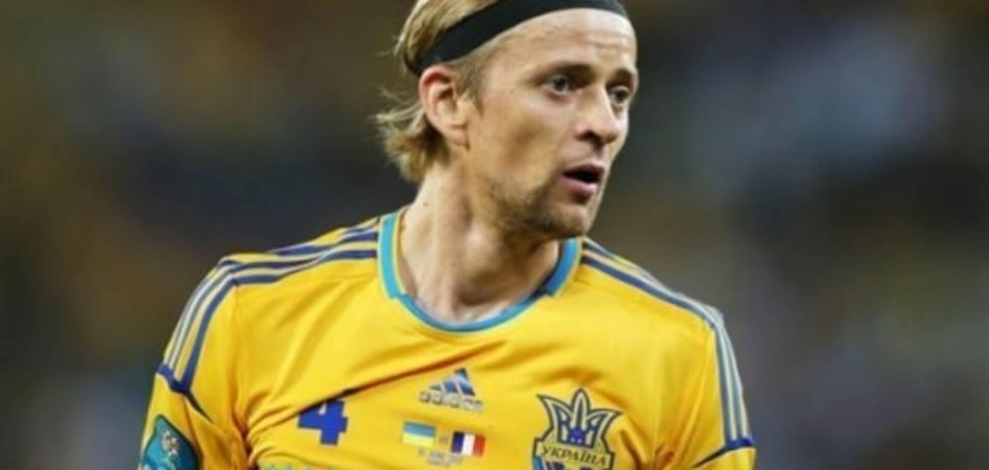 Збірна України позбулася Тимощука перед грою зі Словаччиною