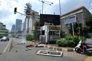 З'явилися страшні фото з місць вибухів у Джакарті