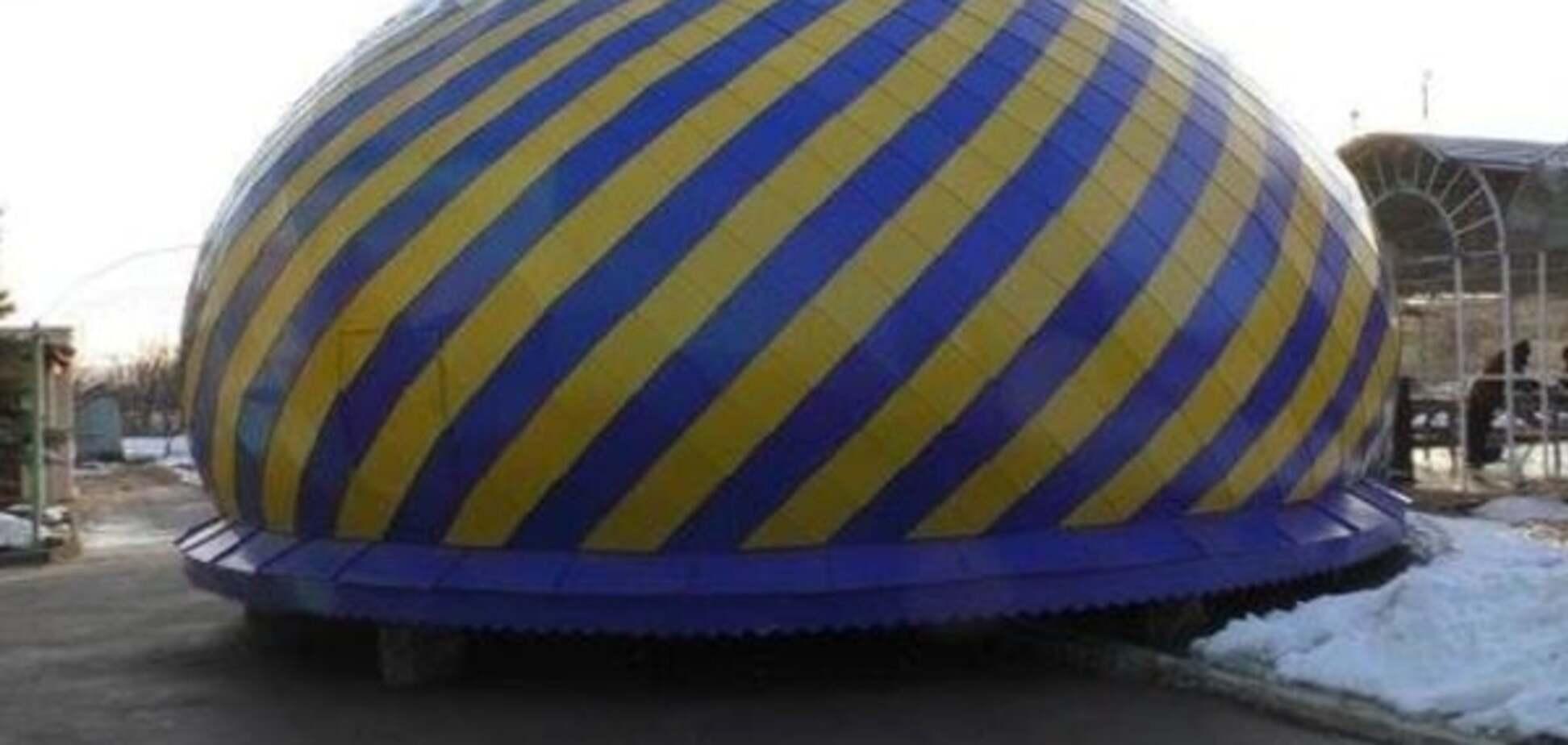 'Украина приходит'. 'Взорванный карателями' храм на Донбассе получил новый купол: фотофакт