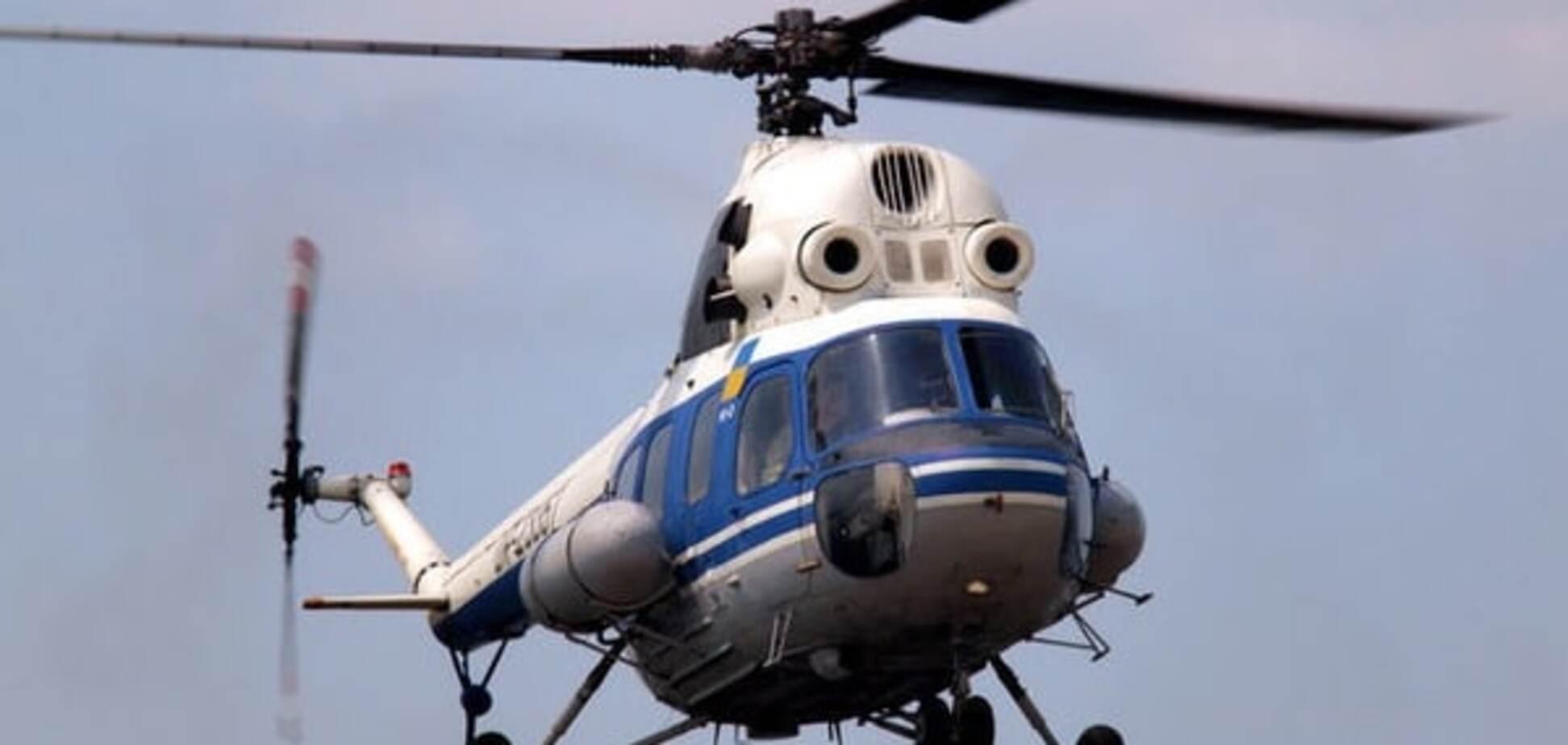 На Полтавщине рухнул вертолет