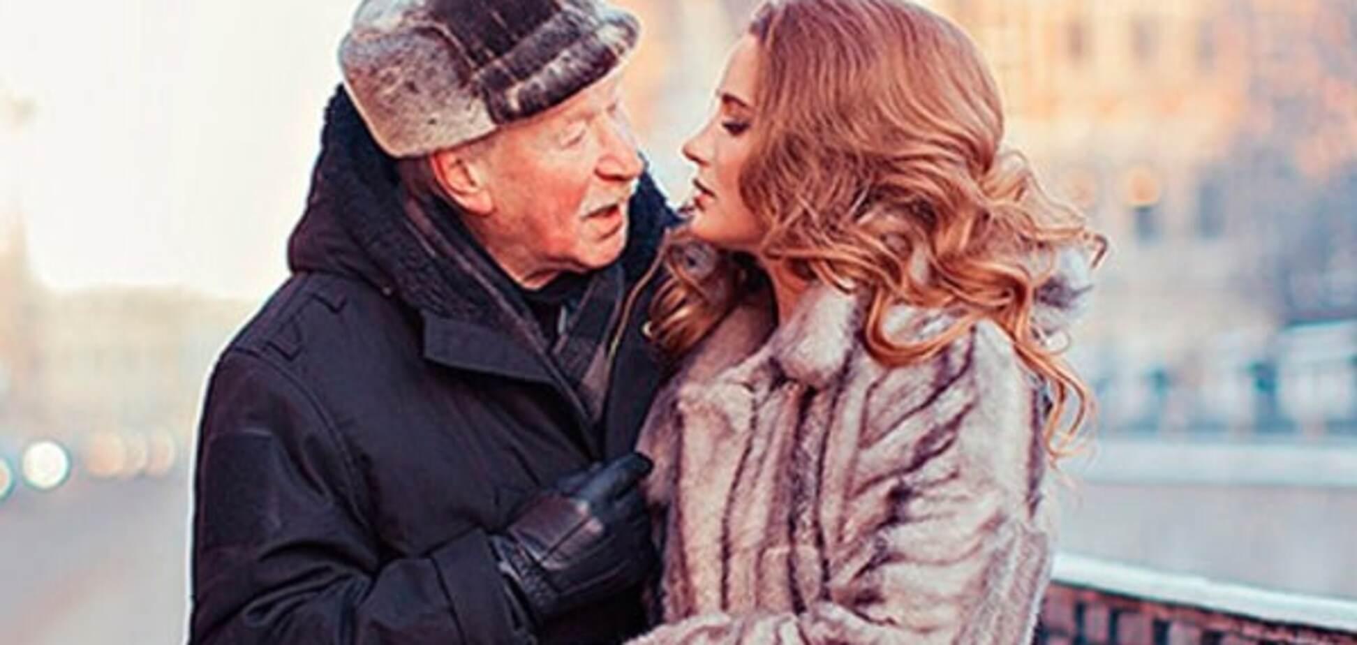Зимние забавы: сеть взорвала новая фотосессия 85-летнего российского актера и его 25-летней жены