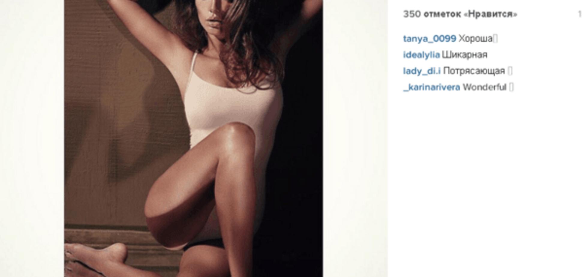 Жена футболиста сборной Украины похвасталась новым снимком соблазнительной фотосессии