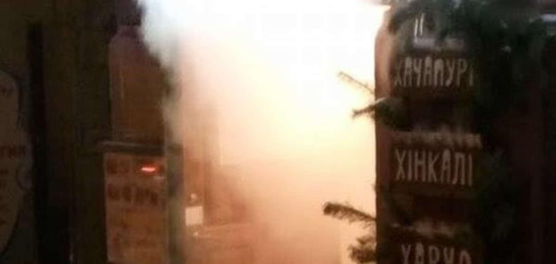 В центре Киева горел ресторан: эвакуировали 30 посетителей