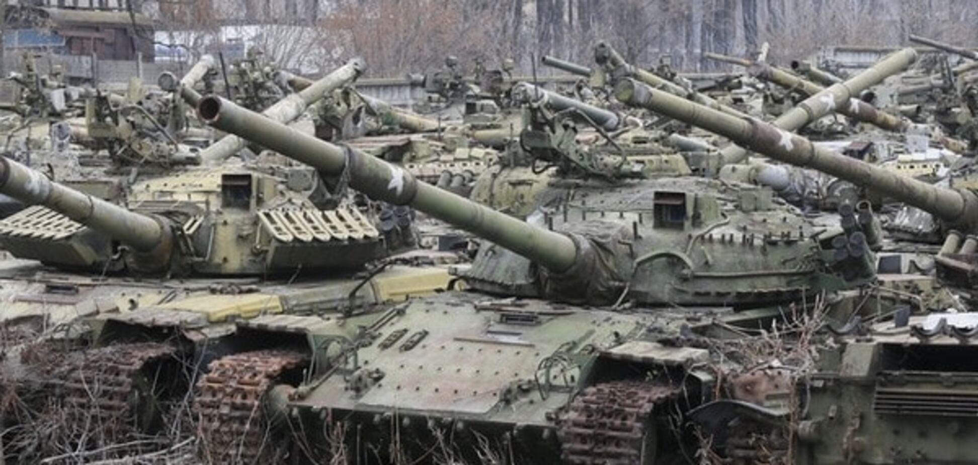 Под Донецком террористы привели в боеготовность танки и 'Грады'