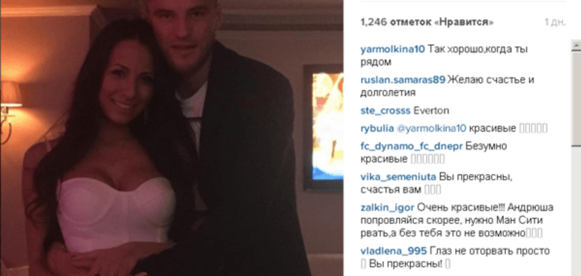 Белое платье и декольте. Жена Ярмоленко похвасталась фото с Дня рождения