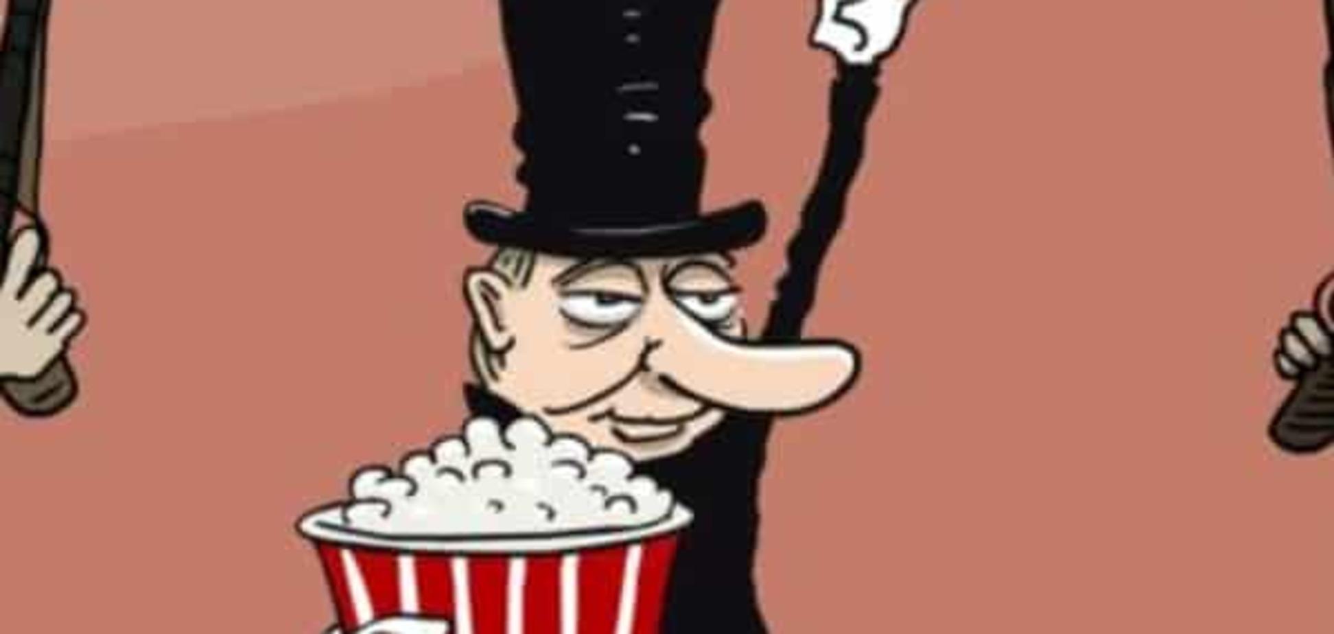 'Посредник': карикатурист высмеял Путина за попытки влезть между Саудовской Аравией и Ираном