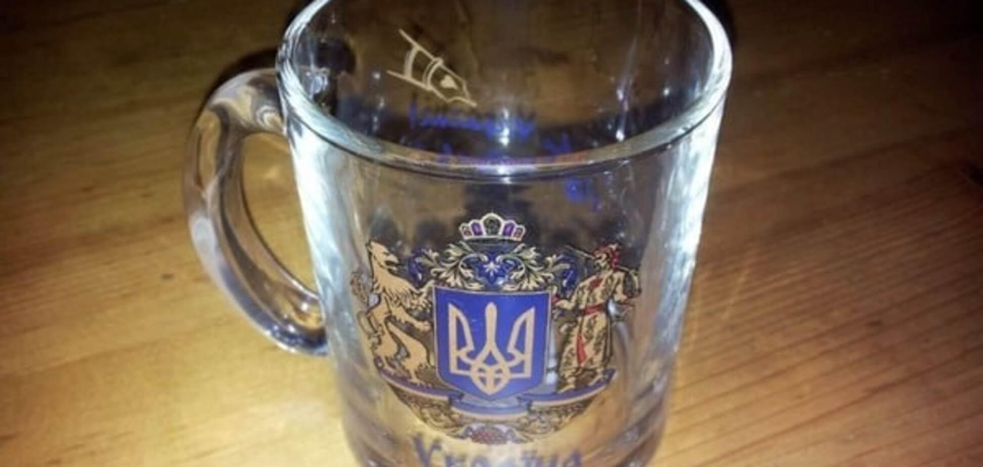 На чашках российского производства написали 'Слава Украине!': фотофакт