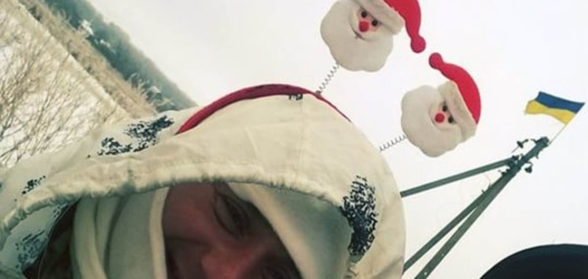 Боец АТО надел оригинальный праздничный костюм на блокпост: фотофакт