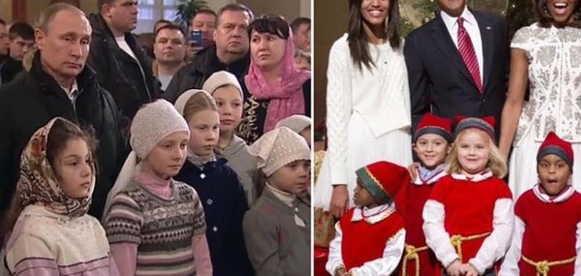 Унылый Путин VS озорной Обама: в соцсетях сравнили Рождество двух президентов