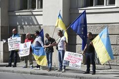 Митинг против \'представительства ДНР\' в Чехии