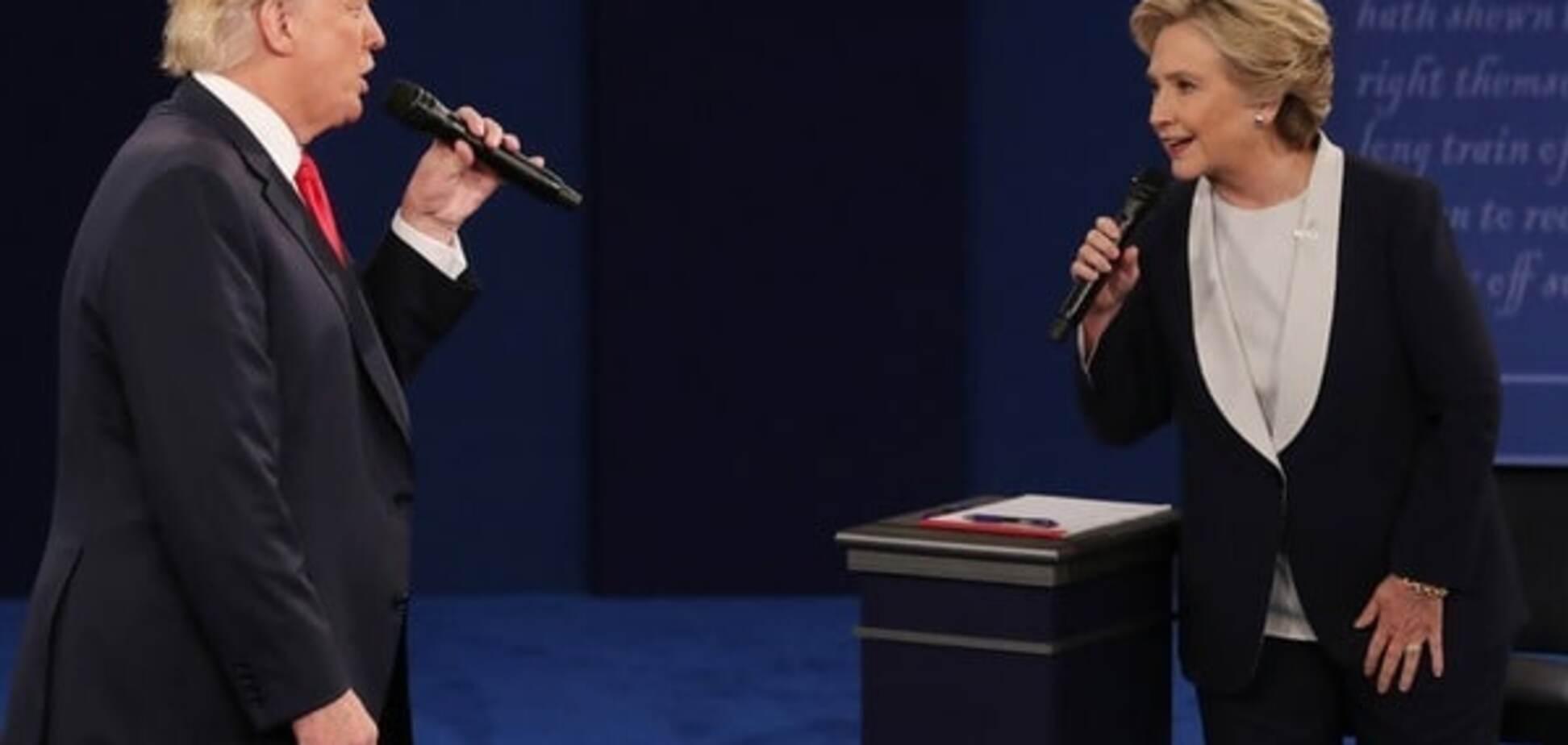 Трамп і Клінтон під час дебатів