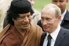 Муаммар Каддафи, Владимир Путин