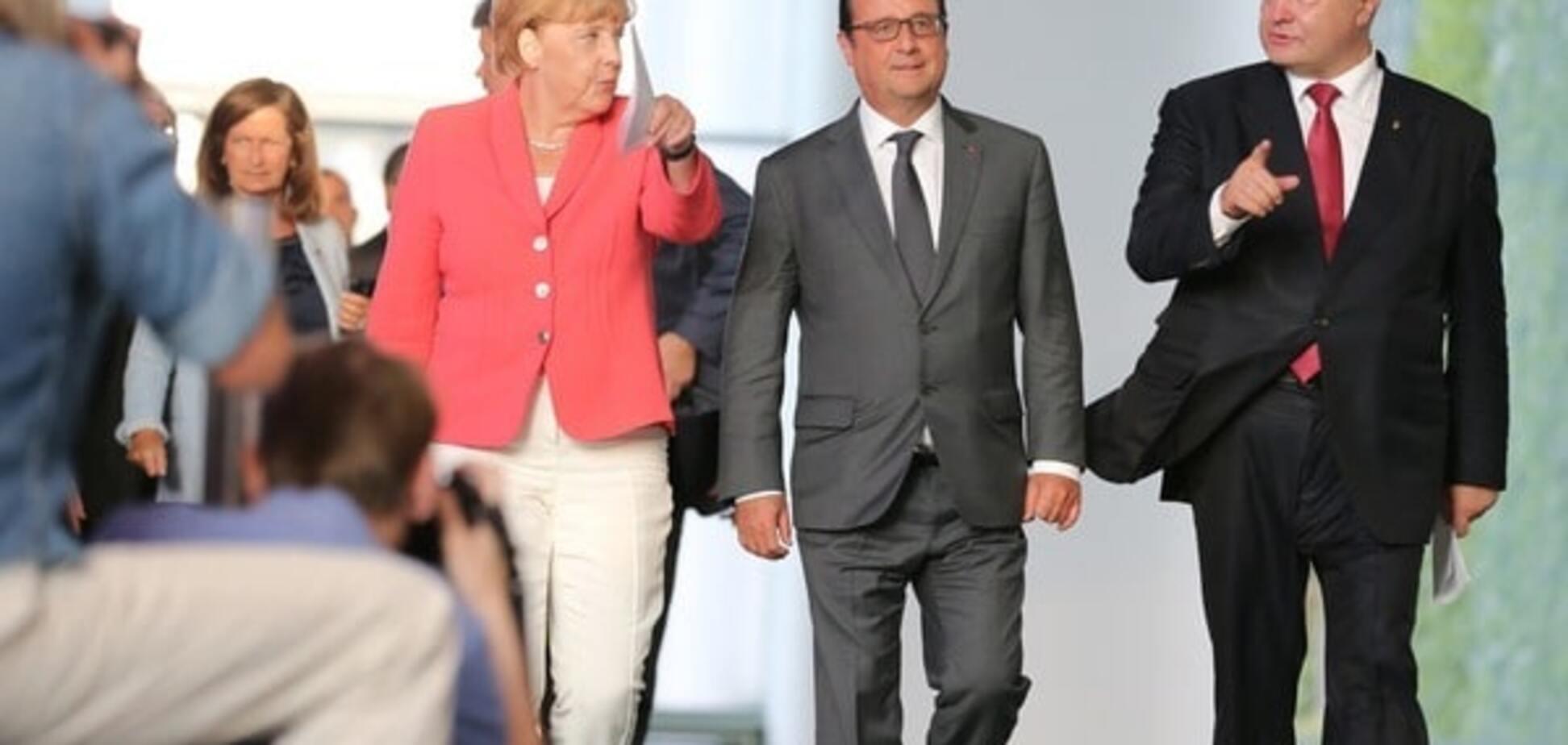 Ангела Меркель, Франсуа Олланд, Петр Порошенко