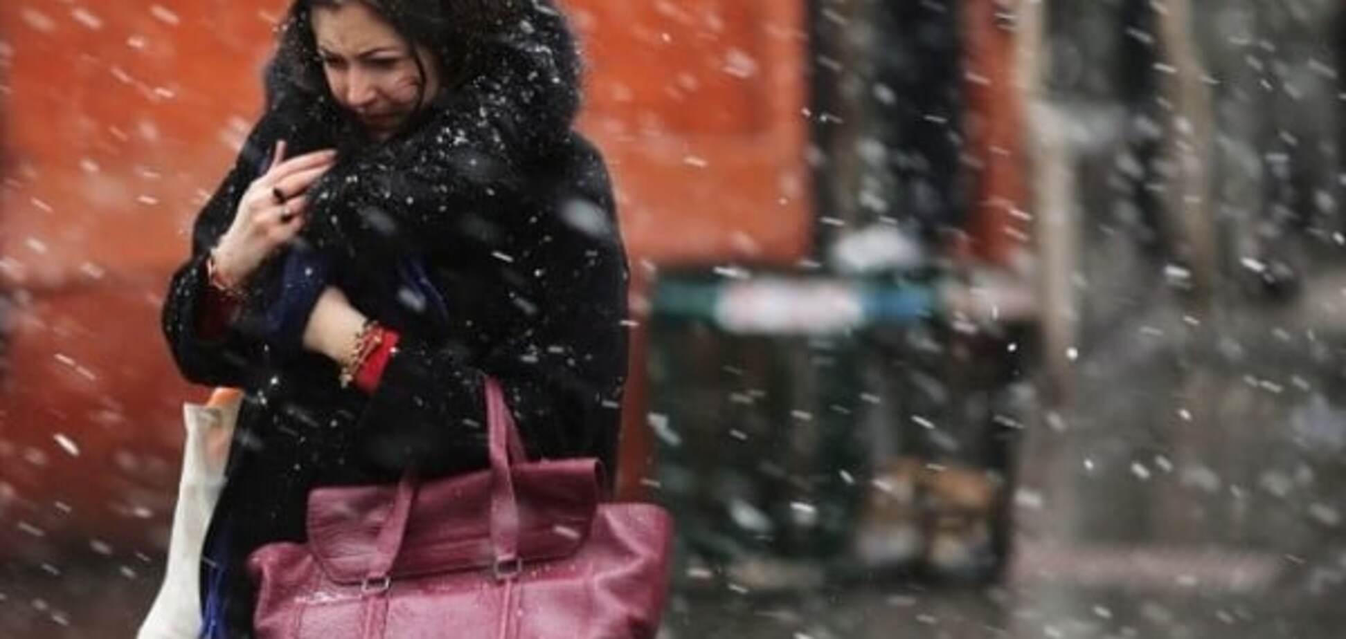 В Украину придет мокрый снег