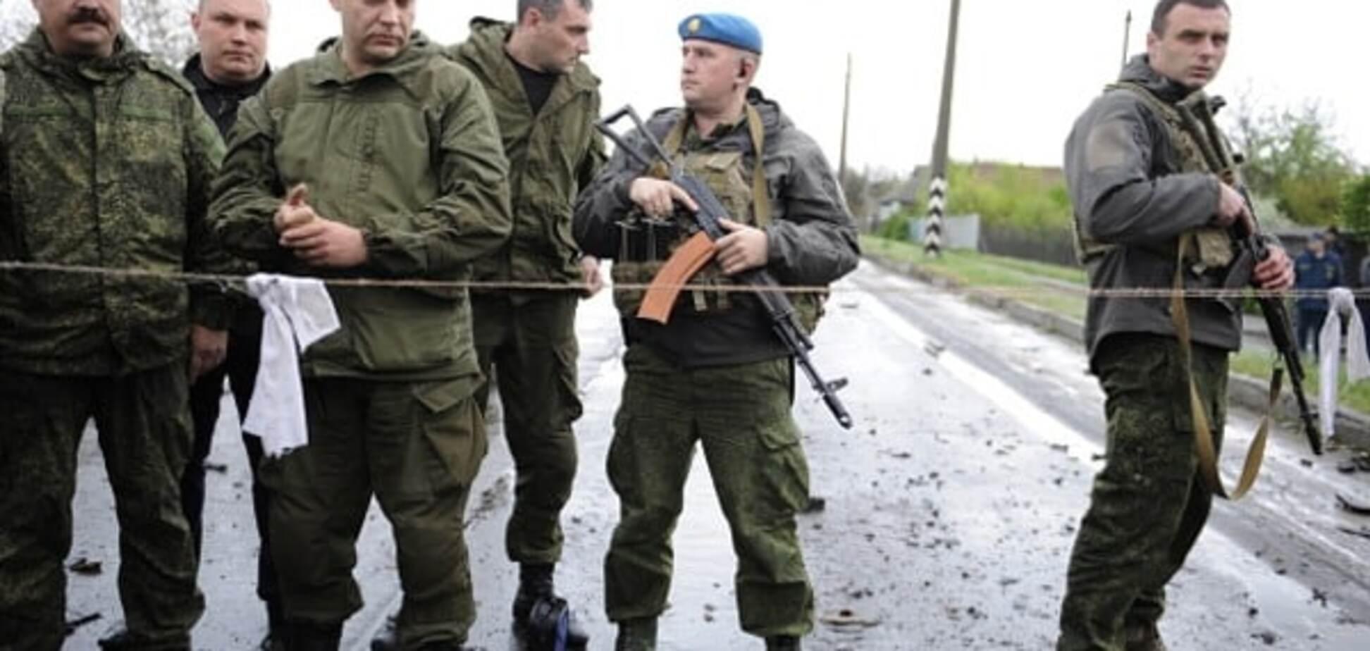 Главарь \'ДНР\' Захарченко и террористы